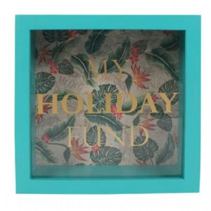 My Holiday Fund 53116 - Savings Shadow Frame Glass Front Money Box